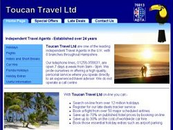 Toucan Travel Limited, travel agency website